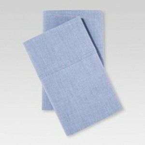 Vintage Washed Chambray Pillowcase King Size new